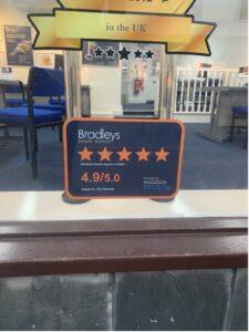 Bradley's Window Sticker