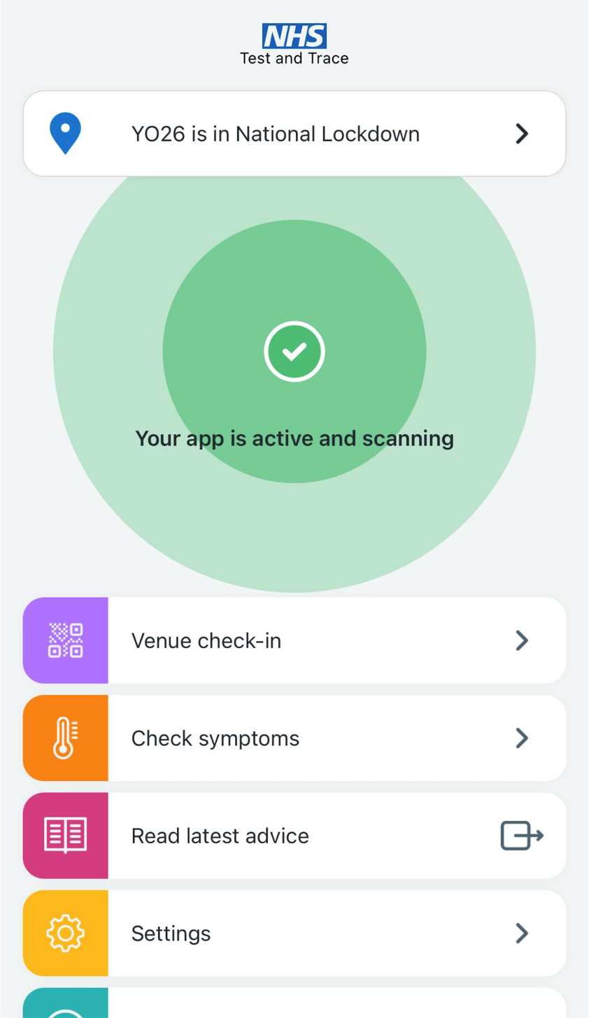 NHS' Track and Trace App
