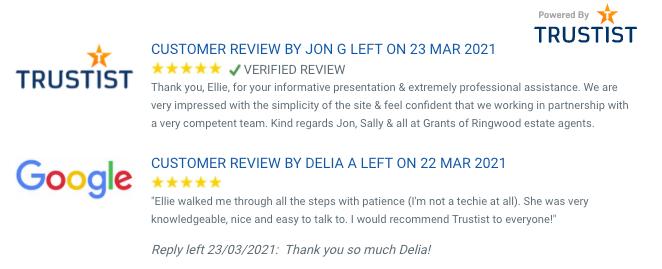 Trustist Display Reviews Widget